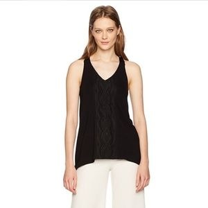 Adrianna Papell Embroidered Shark Bite Tank